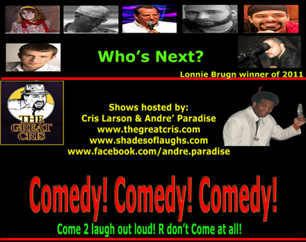 shades of laughs - whos next winner lonnie bruhn